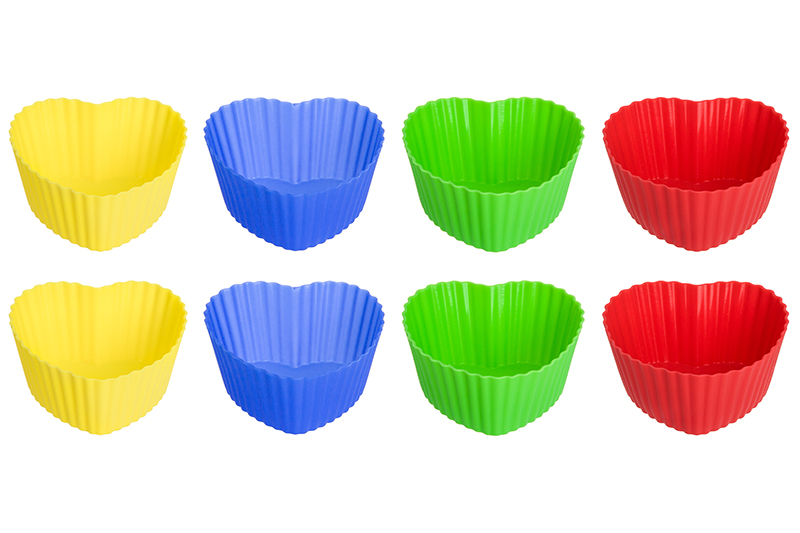 Available from10.11 Set of forms for cupcakes silicone Heart Elan Gallery 590002