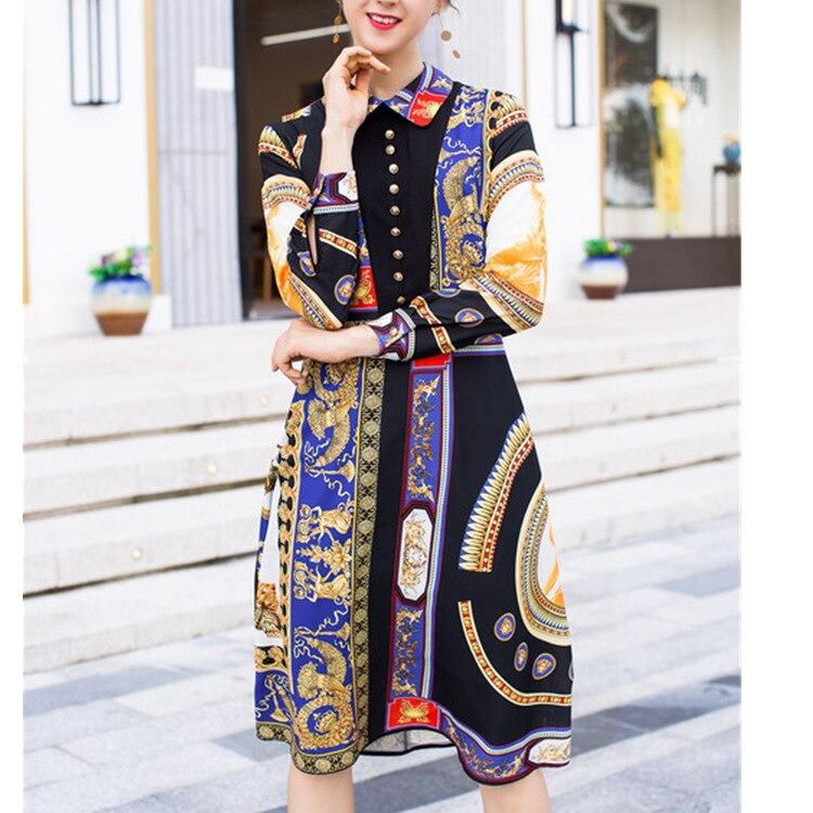 Robe courte Designer haute qualité 2018 automne nouveau femmes mode fête Boho plage Sexy Vintage élégant Chic imprimé robes
