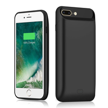 цена For iPhone 7 Plus 8 Plus Battery Charger Case 7200mAh External Backup Charger Power Bank Charging Case 7plus 8 plus Power Case