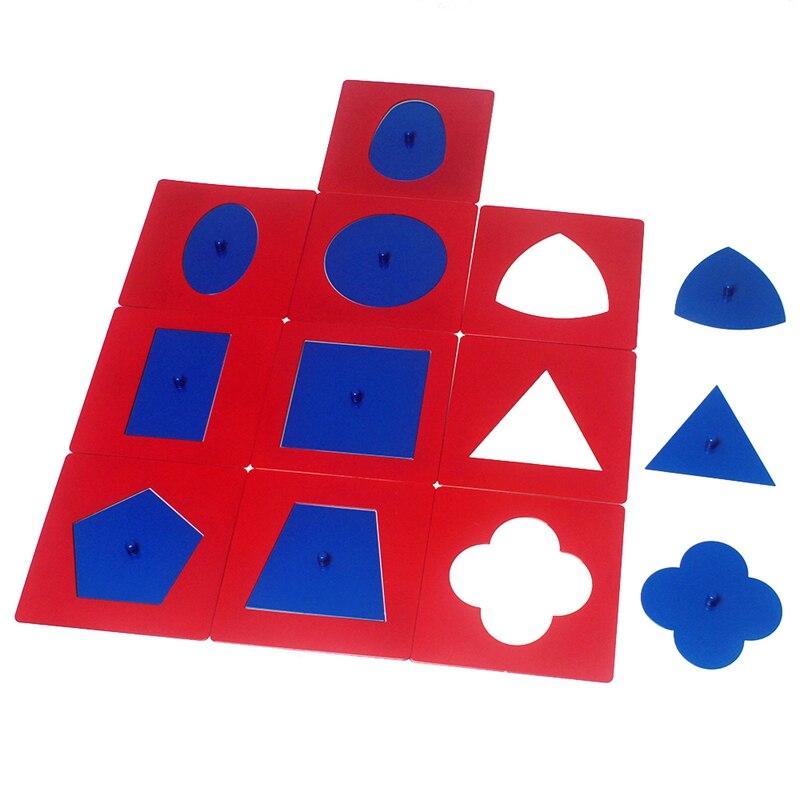 Bébé jouets matériaux professionnels qualité métal ensembles/10 petite enfance éducation préscolaire formes géométriques