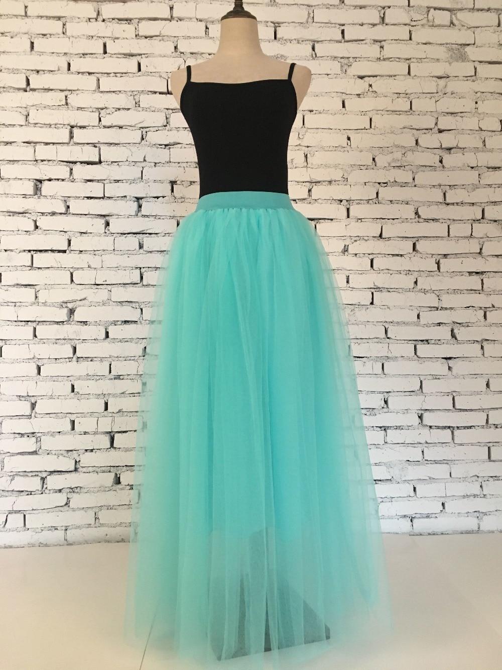 Light Green Faldas 100cm Maxi Long Tulle Skirts Womens Girls Autumn Jupe Party Prom Underskirt Petticoat Tt006