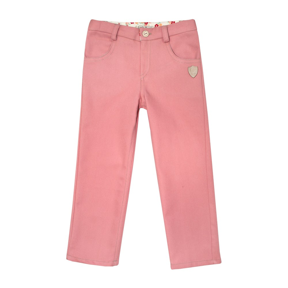 Little People 36310 denim pants pink M No. (116) bleached ripped pockets denim pants