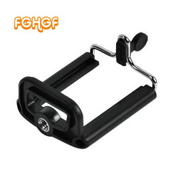 FGHGF Tripod Stand with universal 1/4 inch Nut Screw Hole Black Phone Holder  Phone Clip Accessories for Phone Selfie Stick