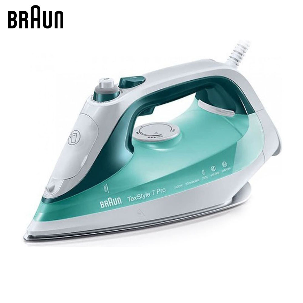 Electric Irons Braun TexStyle 7 SI7042 GR steam iron steamer electric irons braun texstyle 5 ts535 tp steam iron steamer