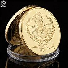 Deutsche Erwin Rommel Africa Corps Desert Fox Africa, юбилейная Золотая монета, коллекция