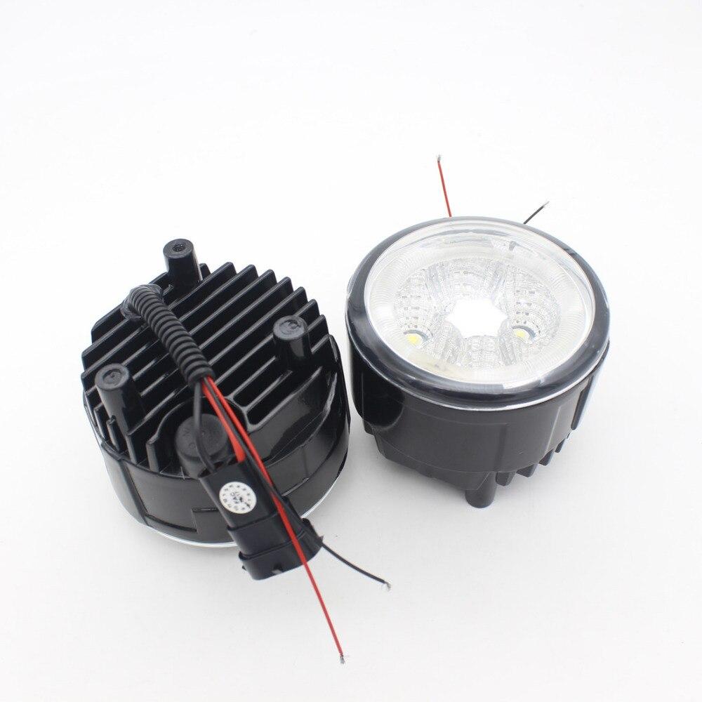 EIN Paar Auto Nebel Lampen 30 W LED SUV Nebel Lichter Engel Auge Lkw Nebel Lichter 6000 K Wasserdicht Lichter - 2