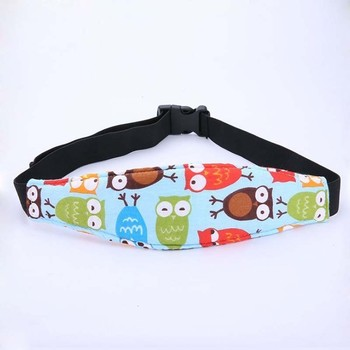 Child Car Safety Seat Headrest Sleep Aid Belt Strap Band Baby Head Fixing Brace image