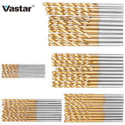 Vastar 50Pcs  HSS High Speed Steel Drill Bits Set Titanium Coated Drill Bits Tool High Quality Power Tools 1/1.5/2/2.5/3mm