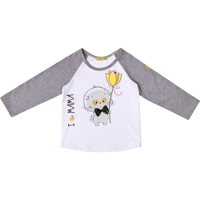 Basik Kids long sleeve T shirt long sleeve cute cat print crop t shirt