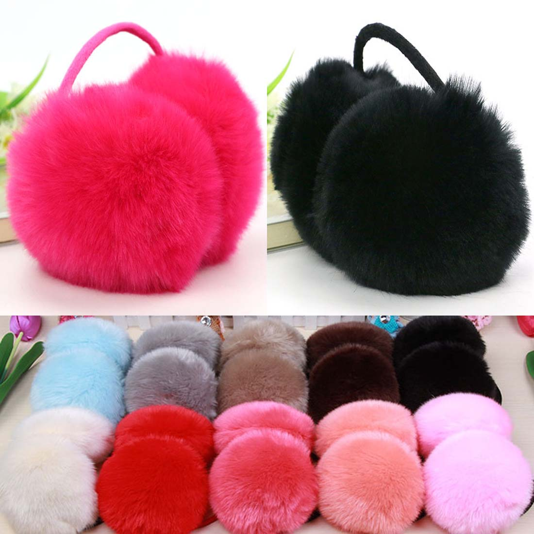 2019 Hot Sale Winter Ear Muffs Fur Ear Covers Women Men Lovers Winter Warm Hairy Ear Warmers Earmuffs Best Christmas Gifts
