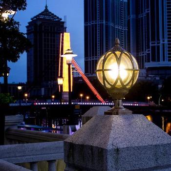 Foco Exterior Paisagismo Portão Luminária Exterior Paisagem Exterior Iluminação Terraza Y Jardin Decoracion Pilar Luz
