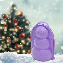 1 шт. снежный шар сделать зимний 3D Снеговик делая форму детские игрушки Дети Спорт на открытом воздухе снег песок производитель плесень инструмент игрушки для Рождества