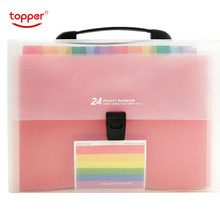Hot Sale 24 Pockets Expanding File Folder A4 Organizer Portable Business File Office Supplies Document Holder Expanding wallet guangbo clip file holder a4 tablet plate clamp students folder expanding management school supplies stationery file folder