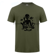 лучшая цена GILDAN You Are Not Alone T Shirt Funny Alien Ufo Conspiracy Theory Area 51 Roswell kevin durant jersey