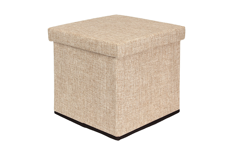 Available from 10.11 Padded stool with storage box Light Beige EL Casa 840041 2400ml vacuum storage box