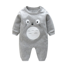 Totoro Print Spring Autumn Long Sleeve Baby Rompers Boy Sleepwear Newborn Clothes Infantil Jumpsuit Toddler Wear