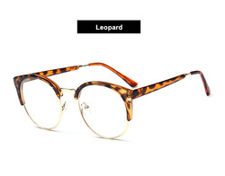 Oulylan 광 안경 Men Women 투명 Glasses 프레임 Plain Lens 패션 암 Metal 플라스틱 Cat 눈 안경 Frame