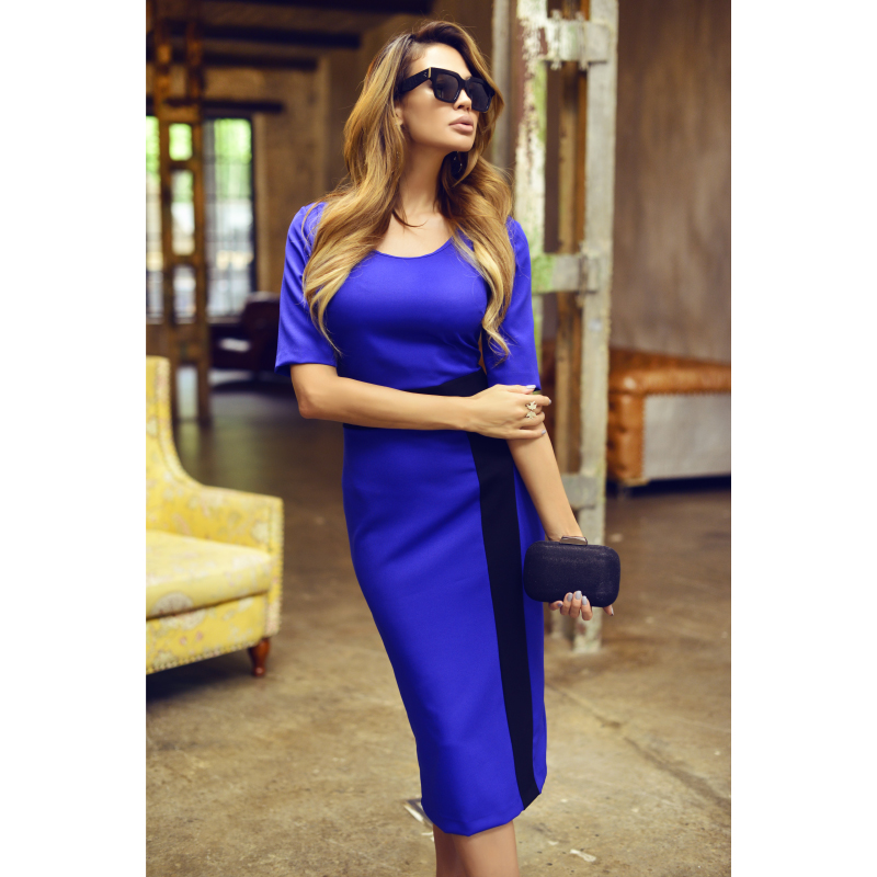 dress AVEMOD AV1699 Women's clothes women stylish long sleeve cowl neck bodycon solid color women s dress