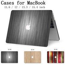 Funda de ordenador portátil caliente para Macbook Air Pro Retina 11 12 13 15,4 para Apple Macbook 13,3 de 15,6 pulgadas con Protector de pantalla teclado Cove