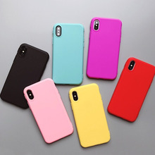 Macaron Candy Color Phone Case for iPhone 11 X XS XR XSmax 8 7 6 6S PluS 5 5s 5SE Soft Drop Protection Cover