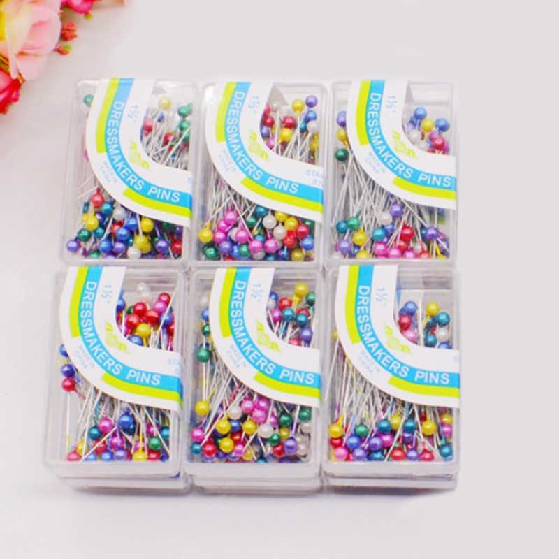 Weddings Corsage Popular 100PCS/lot Colorful Dressmaking Pins Sewing Tools Round Pearl Head High Quality Florists Sewing Pin DIY