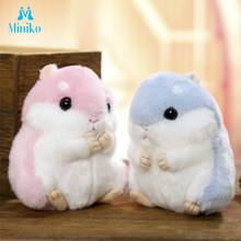 Wholesale Hot Sale Cute Hamster Key Pendant Plush Doll Bag Hanging Ornaments Dolls Send Classmates Girls Gift Dolls Children Toy(China)