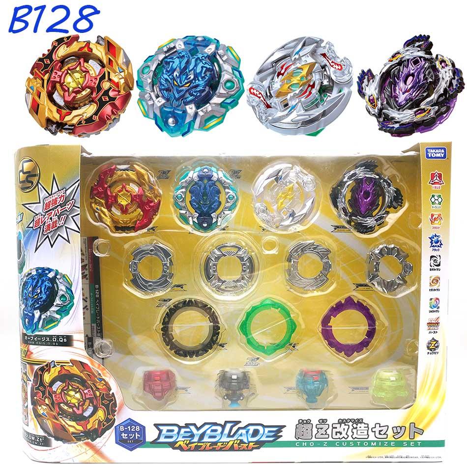 Nuevo Original TOMY Beyblade explosión B-128 Super Z 4 unids/set CHO-Z personalizar conjunto Bayblade ser hoja superior spinner juguete clásico