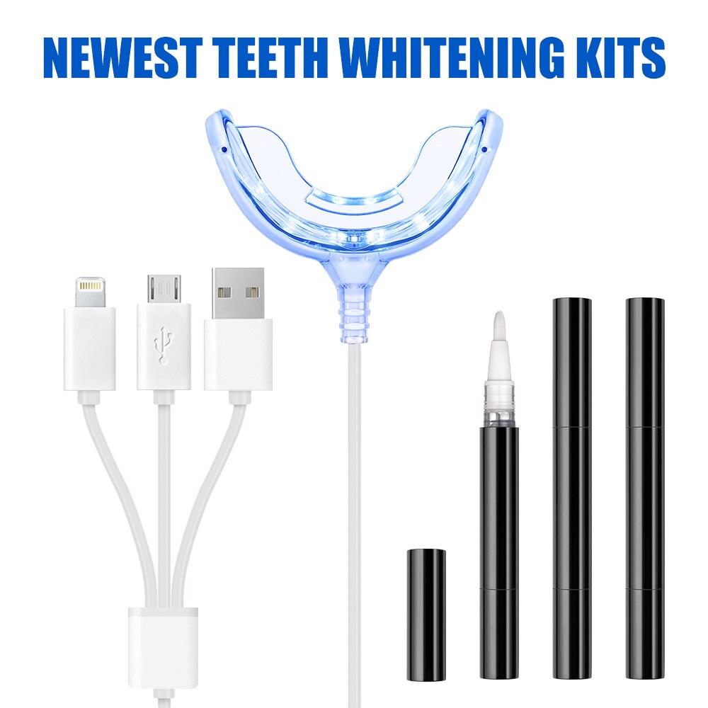 Powerful Dental Care Teeth Bleaching Tools 3pcs 2ml Whitner Gel Pens Phone Enable Teeth Whitening Home System Kits
