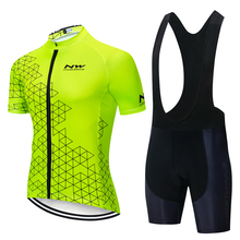 2019 New NW Pro Cycling Jersey Set Maillot Ropa Ciclismo off Road Racing Bicycle Clothing Mans Mountain Bike Clothes Cycling Set недорго, оригинальная цена