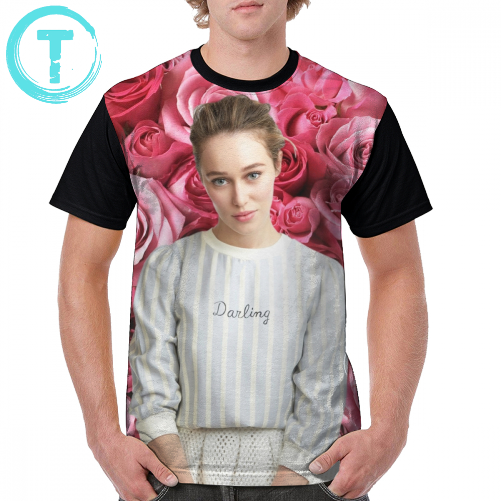 Lexa T Shirt Alycia Debnam-Carey And Roses T-Shirt Graphic Mens Graphic Tee Shirt Awesome 100 Polyester Plus size Tshirt