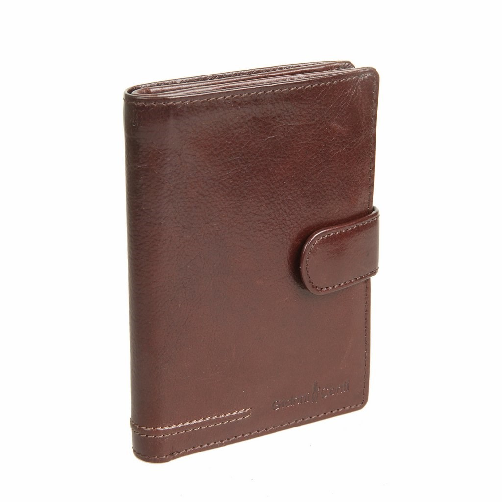 Coin Purse Gianni Cont 708451 Brown simline vintage genuine crazy horse cow leather men men s long hasp wallet wallets purse zipper coin pocket holder with chain