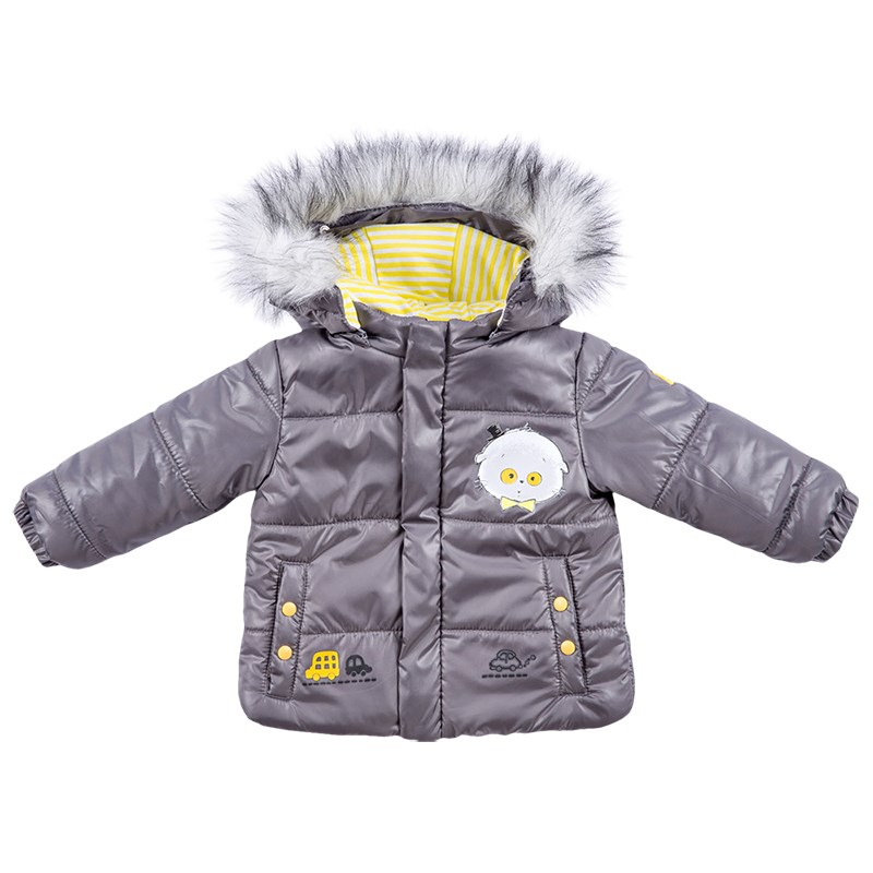 Basik Kids hooded jacket gray kids clothes children clothing basik kids jacket bomber jacket yellow kids clothes children clothing