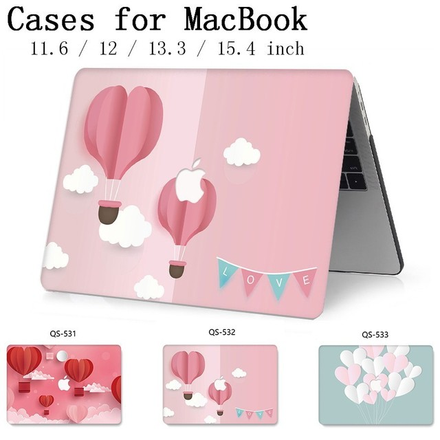 For Laptop MacBook Case 13.3 15.4 Inch For MacBook Air Pro Retina 11 12 13 15 With Screen Protector Keyboard Cove Apple Bag Case