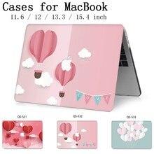 Para Laptop MacBook Caso 13.3 15.4 Polegada Para MacBook Air Pro Retina Teclado 11 12 13 15 Com Protetor de Tela saco Caso enseada Maçã