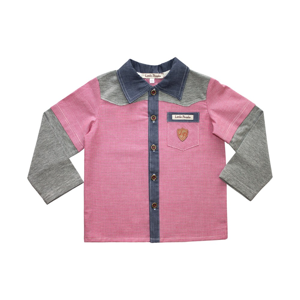 Shirt combined with long sleeve M kids clothes children clothing square neck ruched long sleeve top