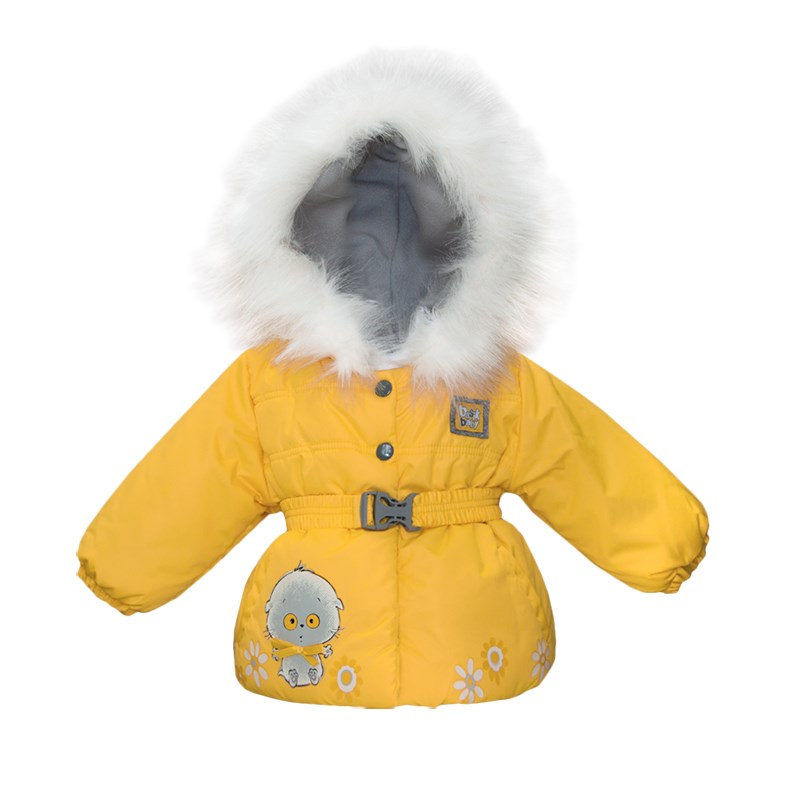 Basik Kids Jacket with belt yellow kids clothes children clothing цена и фото