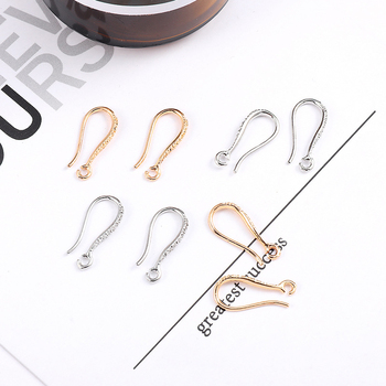 10 PCS/pack Fashion Style Metal Gold Rhodium Ear Hook Earrings Accessories For Women DIY Jewelry Making 12pcs diy accessories color protection plating ear hook plating simple thread earrings spring ear hooks for women