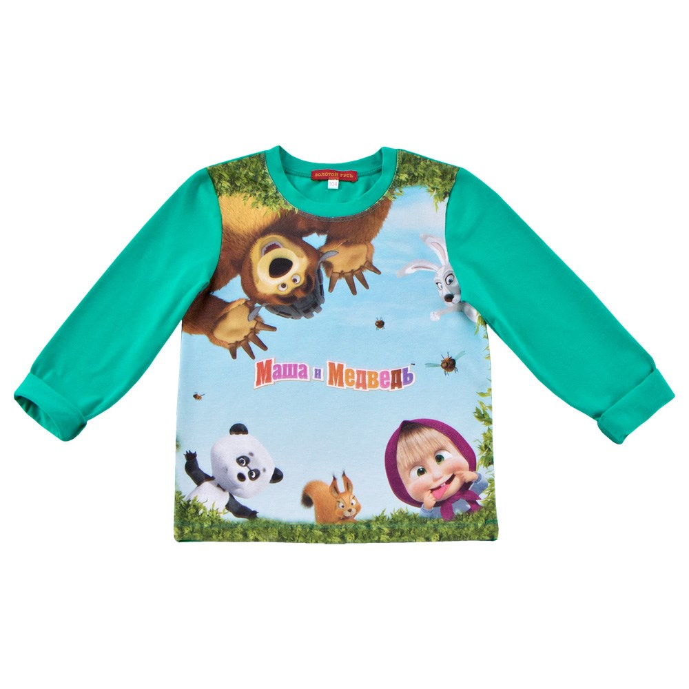 Masha and Bear Shirt long sleeve blue M shirt men s long sleeve greg 223 199 1079 zv 1 blue