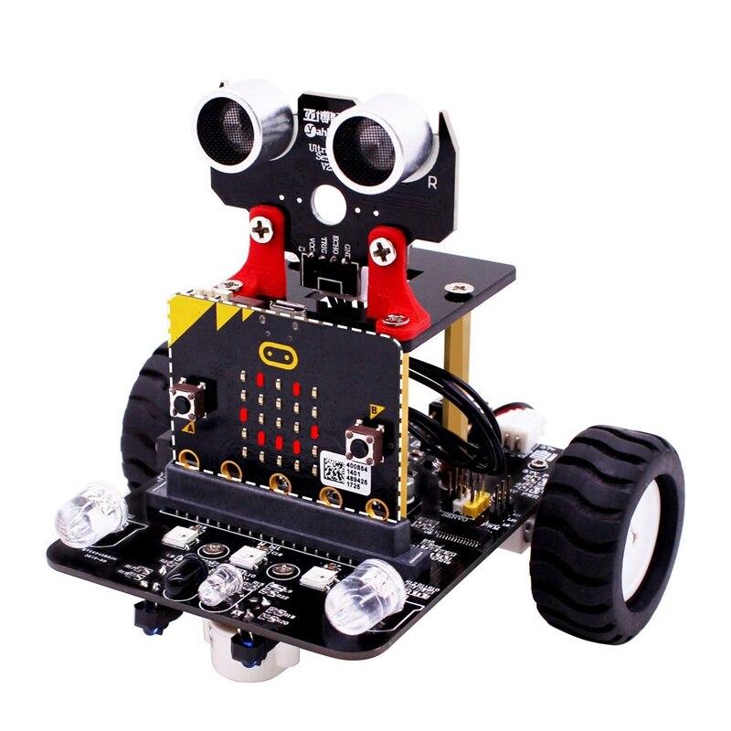 Robot Kit pour Micro: Bit tige robotique Kits pour enfants à Programmable Bbc Microbit Robots bricolage jouet voiture avec tutoriel suivi Sci