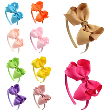 Fashion 1PC Sweet Ribbon Bow Headwear Soild Color Kids Hair Band Children Headbands Cute Accessories