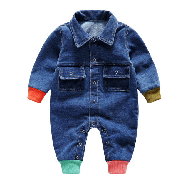 Carters Pasgeboren Kleding Baby Romper Kleding Zachte Outfit Cowboy Overalls 0 1 2 3 Jaar Baby Jeans Meisje Jumpsuits Peuter clothi