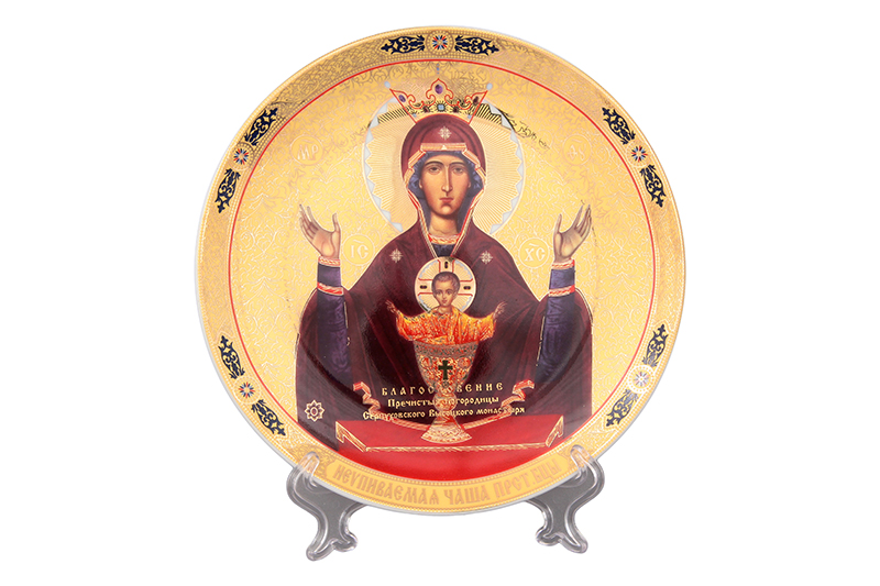 Available from 10.11 Plate decor. 18 * 18 * 2 cm. The Most Holy Mother of God of the Inescapable Bowl Elan Gallery 200005 the good mother