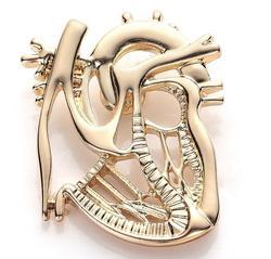 New 보석 Heart Shape 브로치 핀 금 Silver Plated 보석 Gift \ % 정도의 간호사 학생 의료 크리스마스 핀 Badge 핀 Men