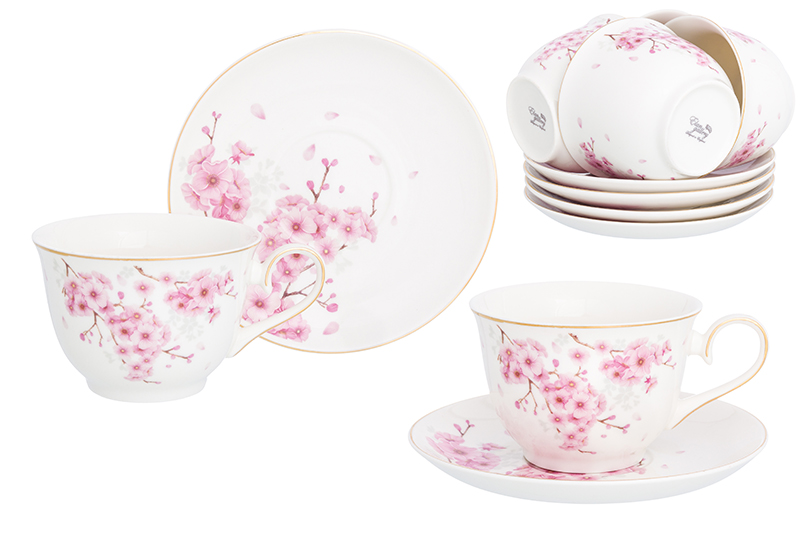 Available from 10.11 Tea set The blossoming Sakura 12 items Elan Gallery 181151