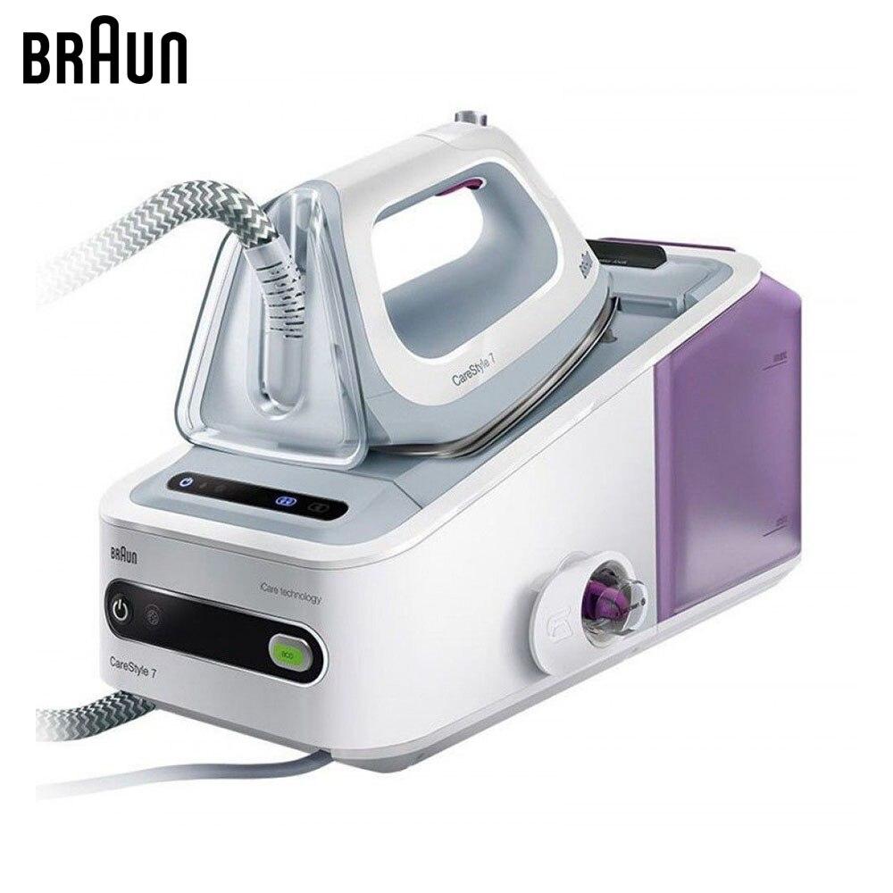 лучшая цена Electric Irons Braun CareStyle 7 IS7043 WH steam iron steamer