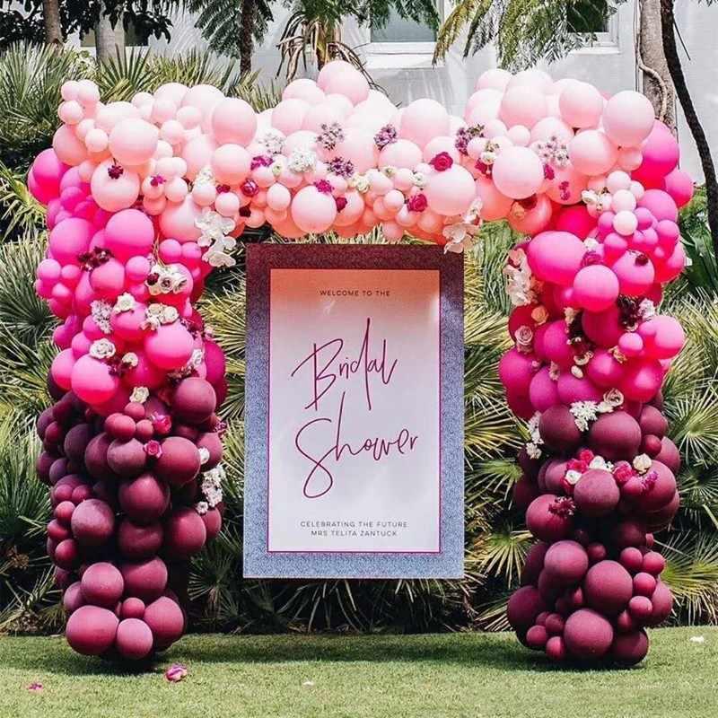 5M Balon Rantai PVC Pesta Pernikahan Latar Belakang Dekorasi Arch Dekorasi Pesta Ulang Tahun Balooon Klip Dekorasi Aksesoris Perlengkapan