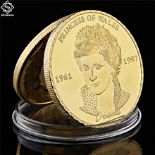 British Princess Diana Gold Plated Coin UK The Royal of Wales Token Collection