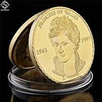 Principessa britannica Diana Placcato In Oro Della Moneta del REGNO UNITO Il Reale Della Principessa di Galles Diana Token Collezione di Monete