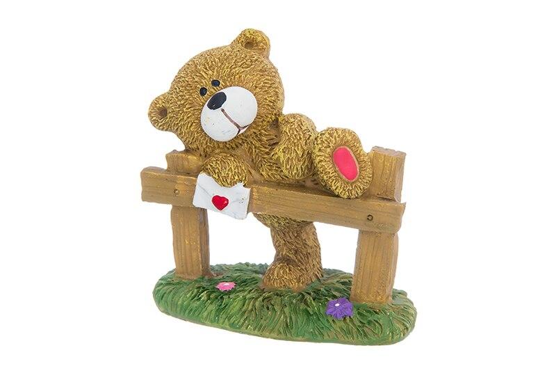 Available from 10.11. Bear with letter figurine. Elan Gallery 980054 авточехлы зимние letter i glk200 glk300 glk260 ml320 ml350