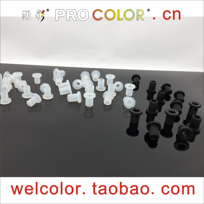 10000 PCS T type shaped silicone rubber Hollow plug retaining cable buckle Open hole 15/64 OD 6 MM 6MM ID 5/32  4 mm 4MM